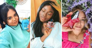 Sponsored content from beauty vloggers and influencers