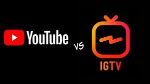 YouTube vs IGTV logos