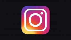 Instagram logo on black background