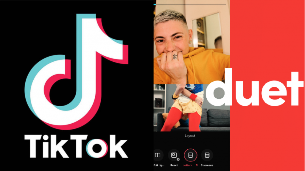 TikTok launches new Duet format layouts: react, top and bottom, three screen