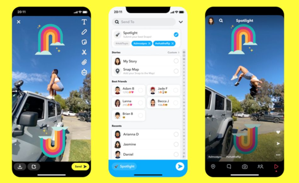 Snapchat launches Spotlight to rival TikTok